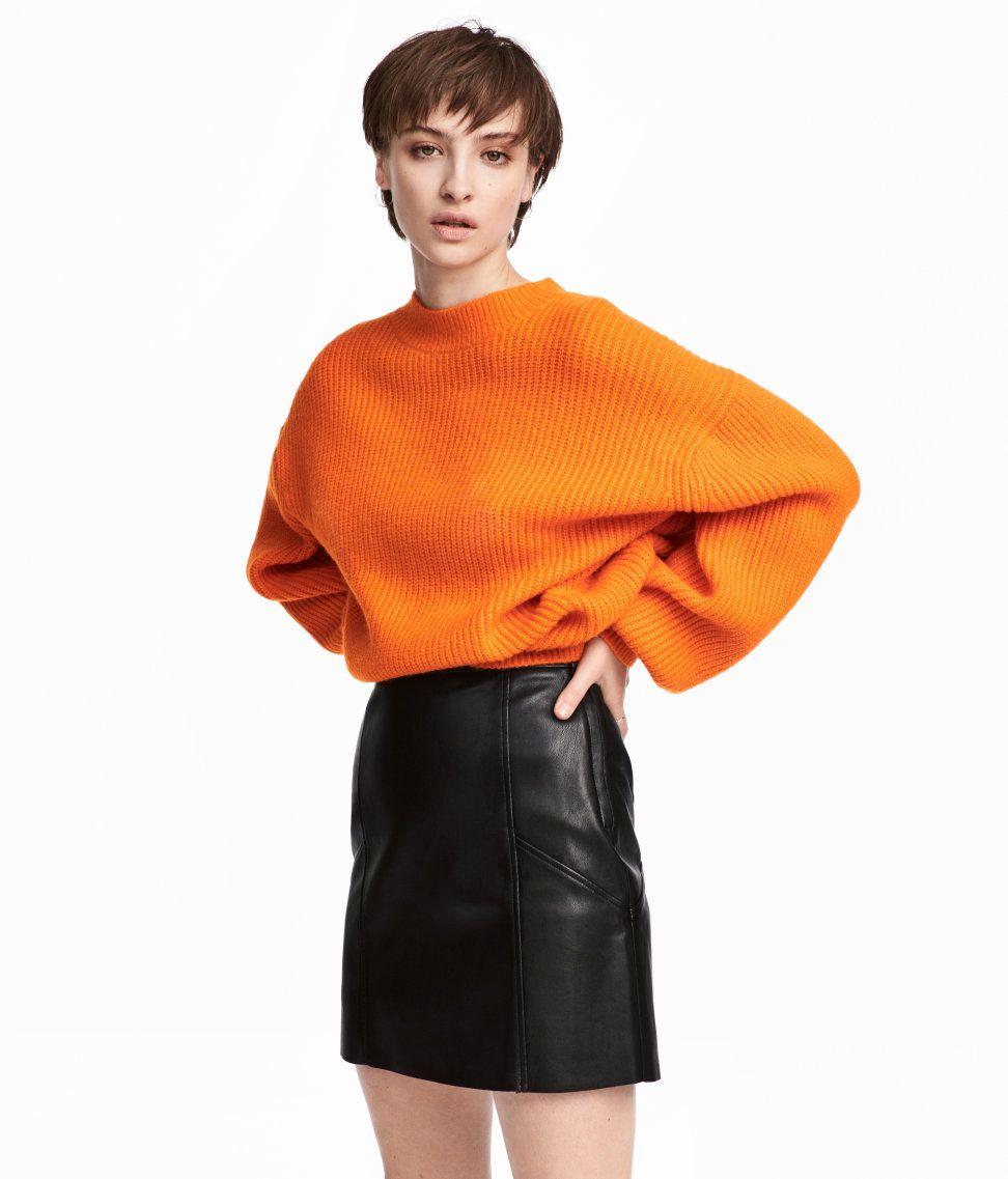 discount 9579f 49cbd Gerippter Pullover | Orange | DAMEN | H&M AT | Mode | Orange ...