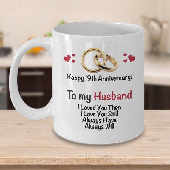 19th Anniversary Gift Ideas for Husband - 19th Wedding Anniversary Gift - Married 19 Years Coffee Mu