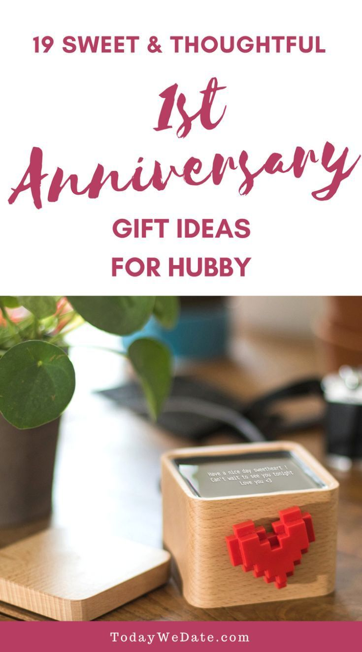 19 Anniversary Gifts That Are Just As Good As Your First Year Of Marriag Anniversary Ideas For Him First Wedding Anniversary Gift Anniversary Gifts For Husband