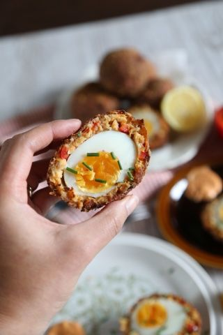 Sexy domestic crab cake scotch eggs good food pinterest egg food sexy domestic crab cake scotch eggs forumfinder Images