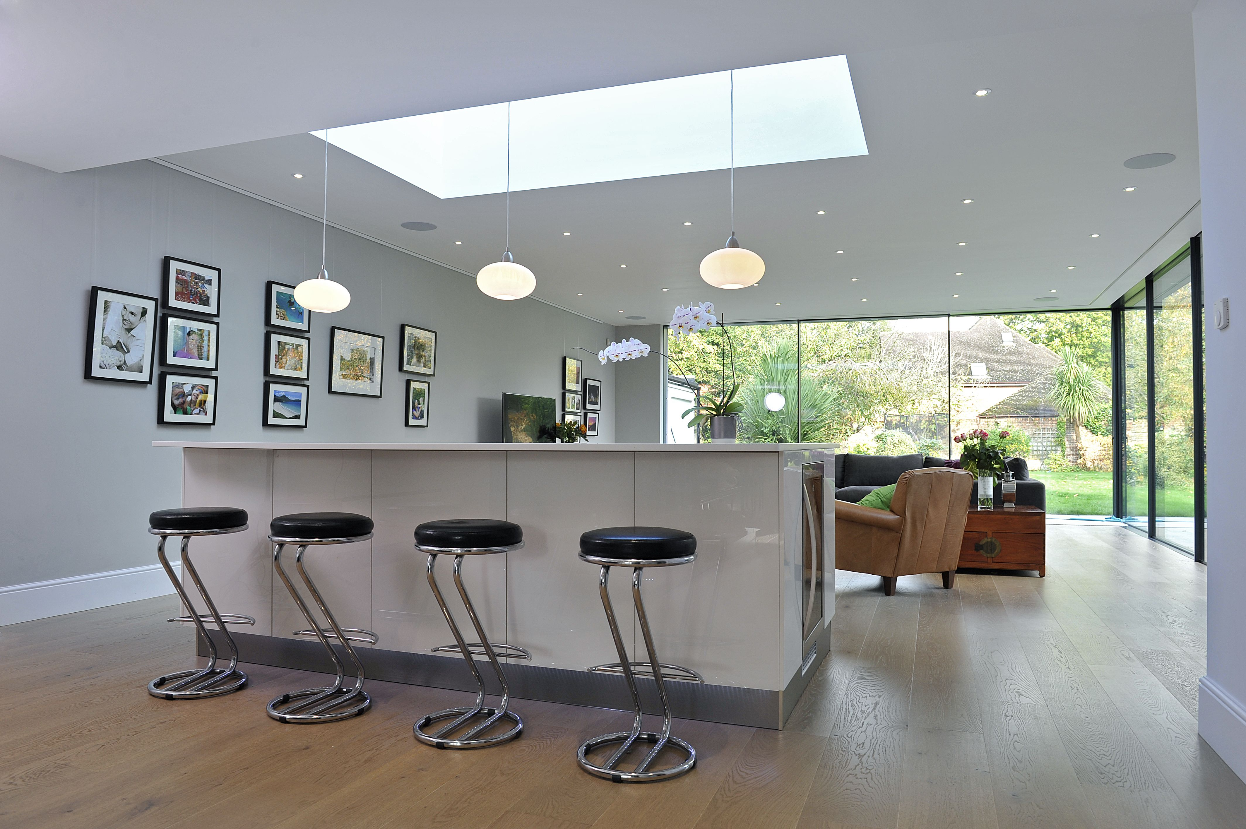 Kitchen Extension Ideas (Bi Fold Doors Skylight Kitchen Island) - Townhouse