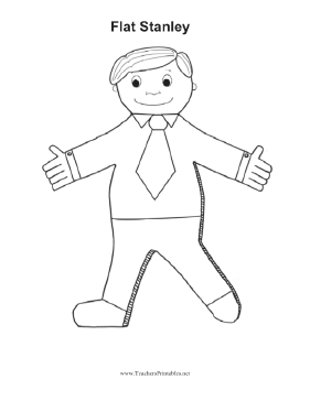 This printable Flat Stanley doll or cutout can be colored