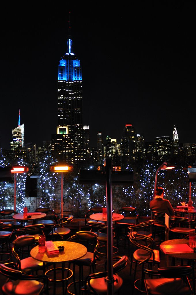 Nyc Magnificent View From The 230 Fifth Bar Lounge Terrace