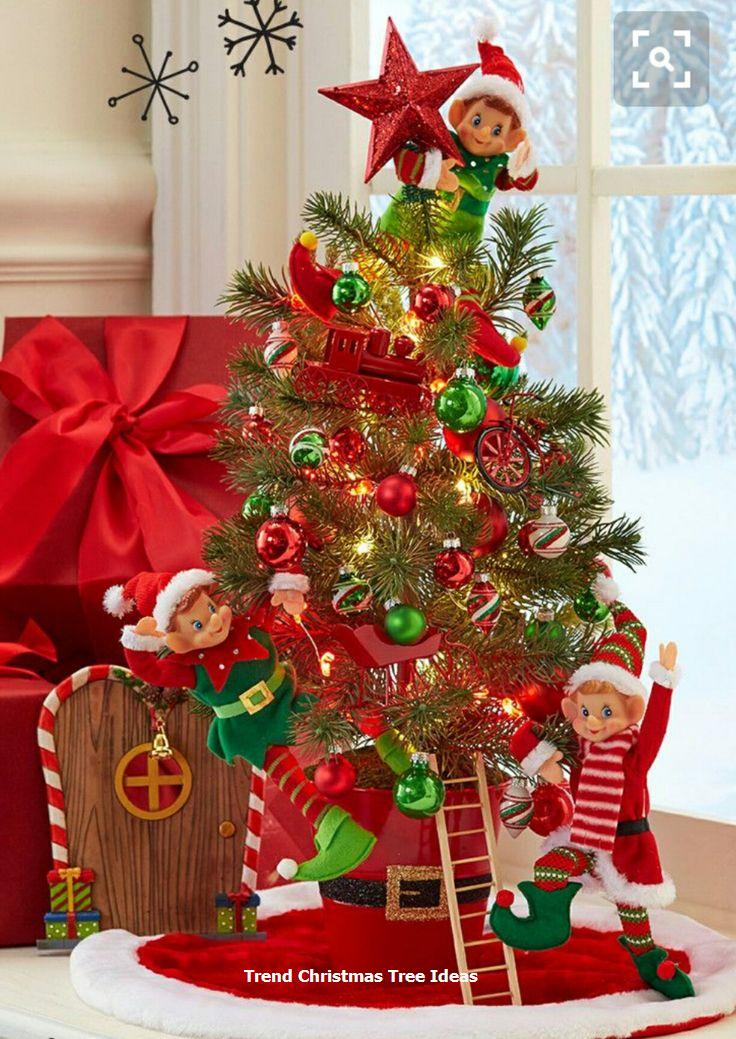 23 Christmas Tree Ideas Elf Christmas Tree Christmas Tree Christmas Gift Decorations