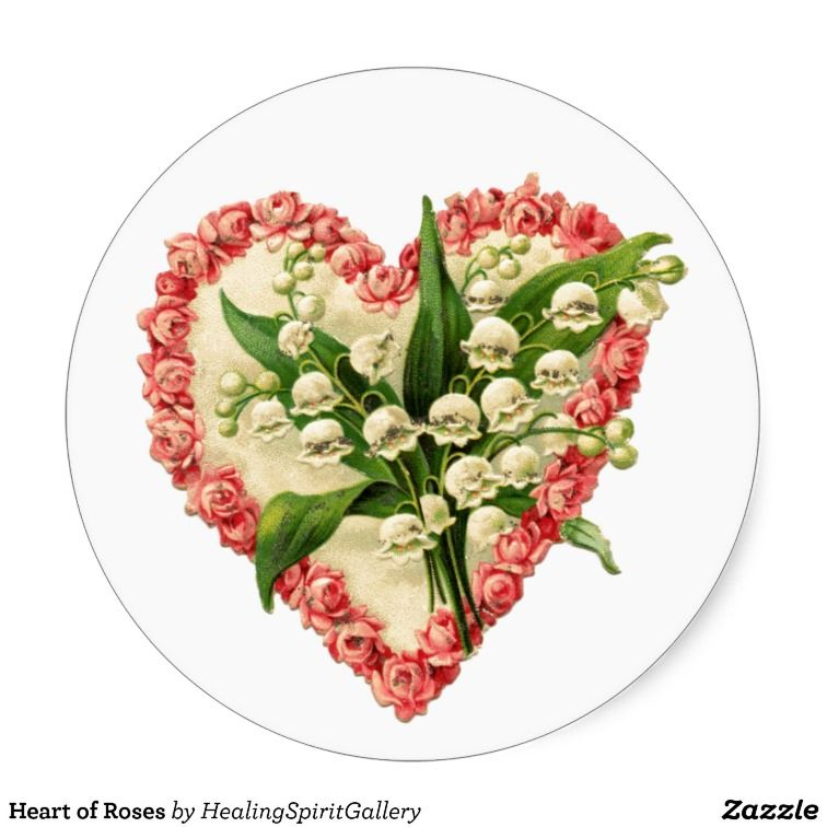 sold 1 sheet of Heart of Roses Stickers