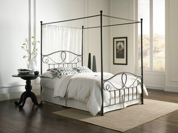 Lit Baldaquin Pour Une Chambre De Deco Romantique Moderne Lit En