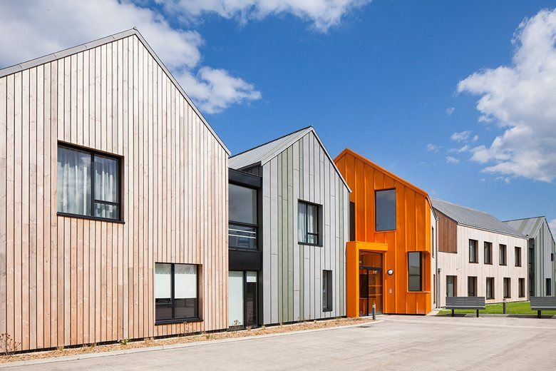 The New Elderly Housing Of The City Of Saint Brieuc In Brittany Slot In The Center Of Cesson District Barn Style House Healthcare Architecture Architecture