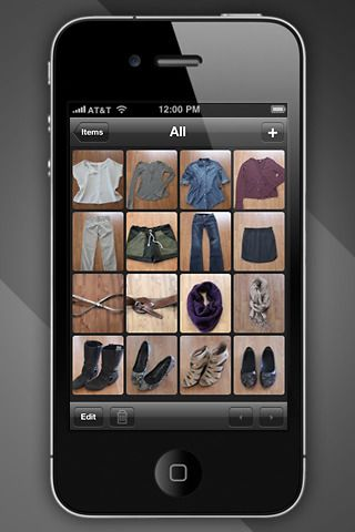 iPhone app that allows you to inventory your entire closet and put together outfits.... i actually had this idea years ago! daanngg iiittt