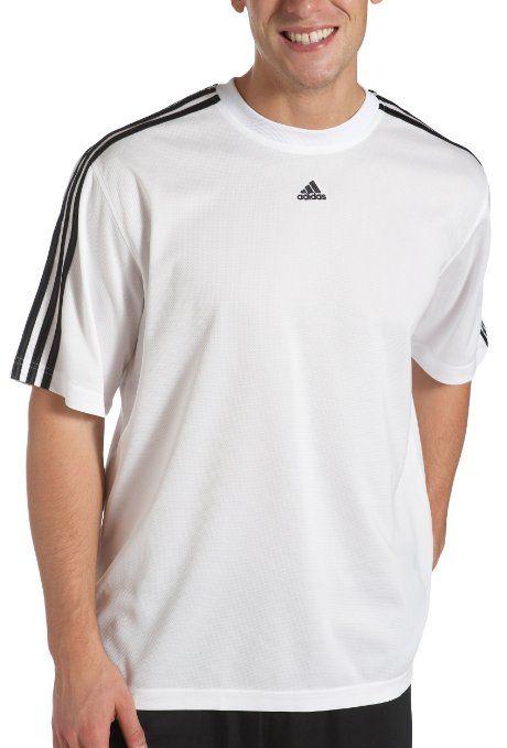 2ec1830de Amazon.com  adidas Men s 3 Stripe Short Sleeve Top  Clothing