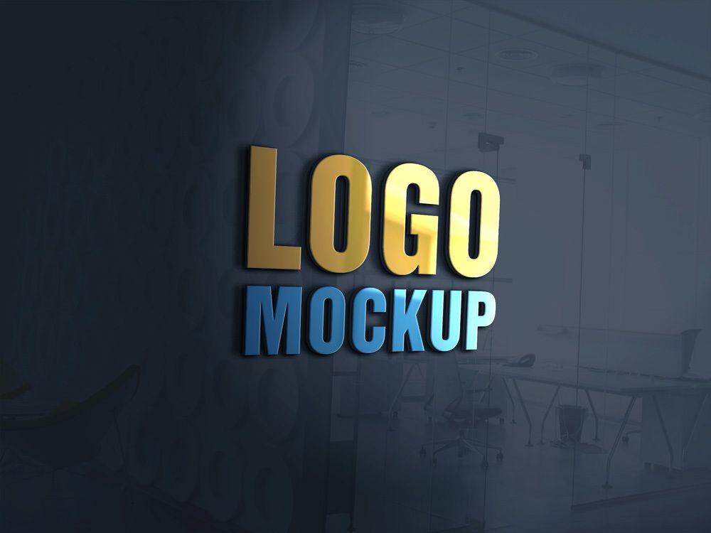 Logo mockup template free