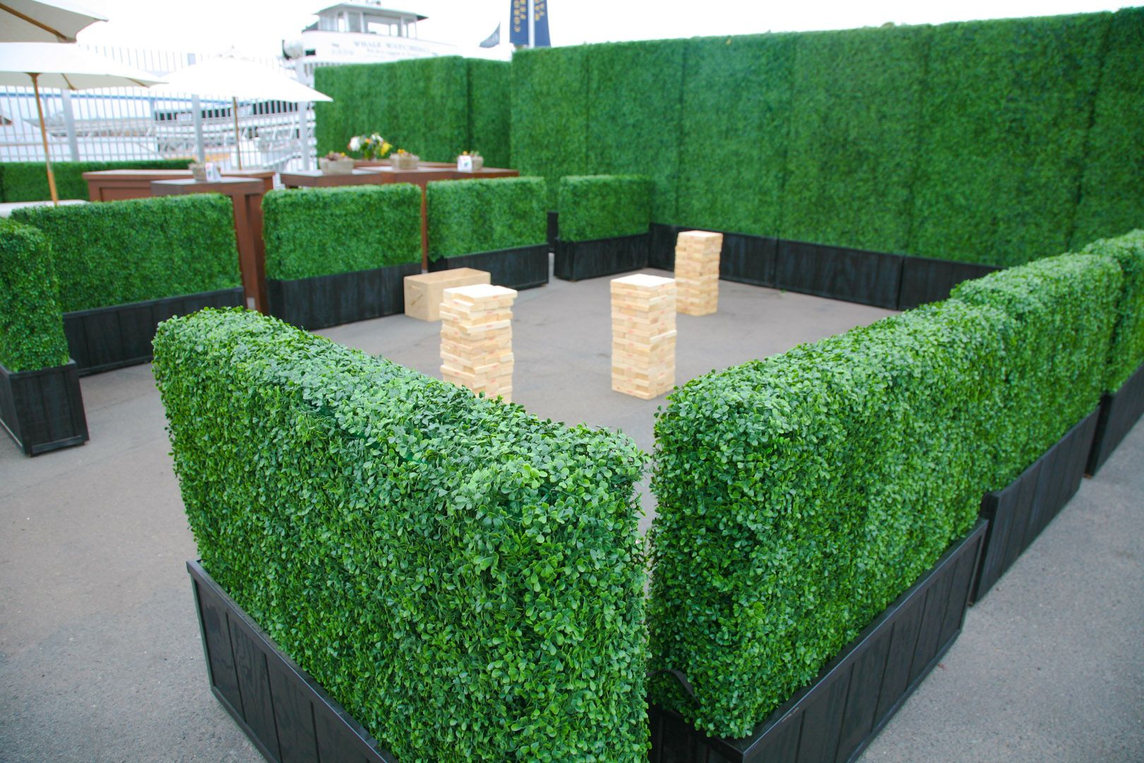 Boxwood Hedge Panels 4 X 8 A1 Party Rental Artificial Plants Outdoor Artificial Plants Indoor Small Backyard Landscaping