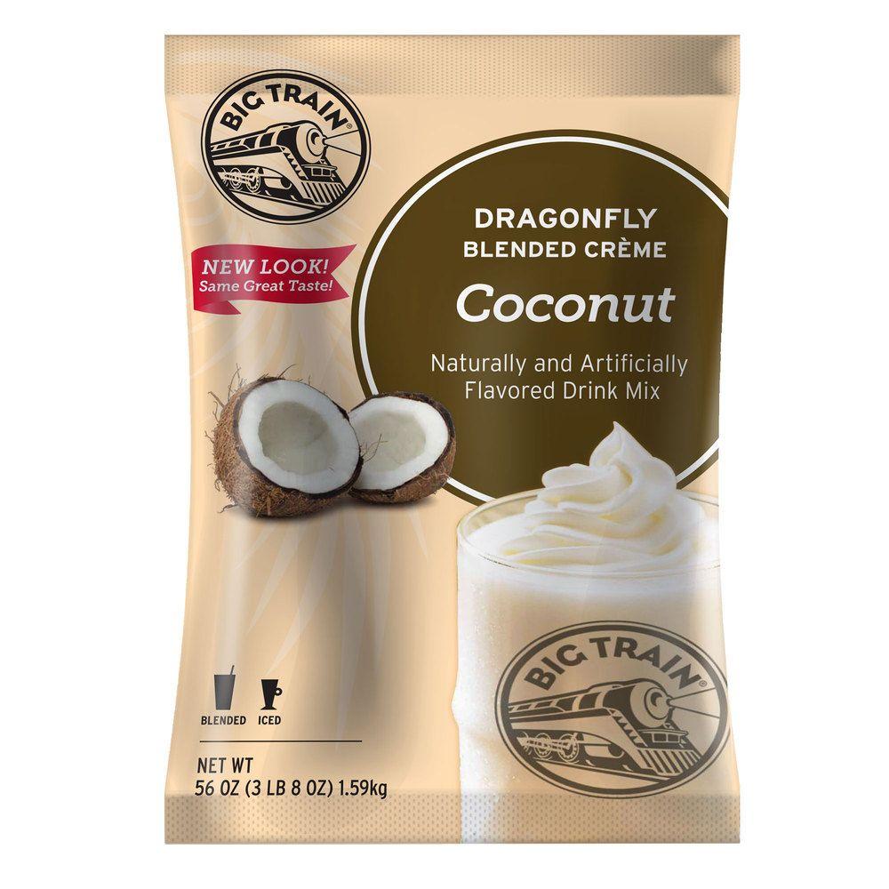 Remarquable  Mot-Clé Big Train 3.5 lb. Dragonfly Coconut Blended Creme Frappe Mix