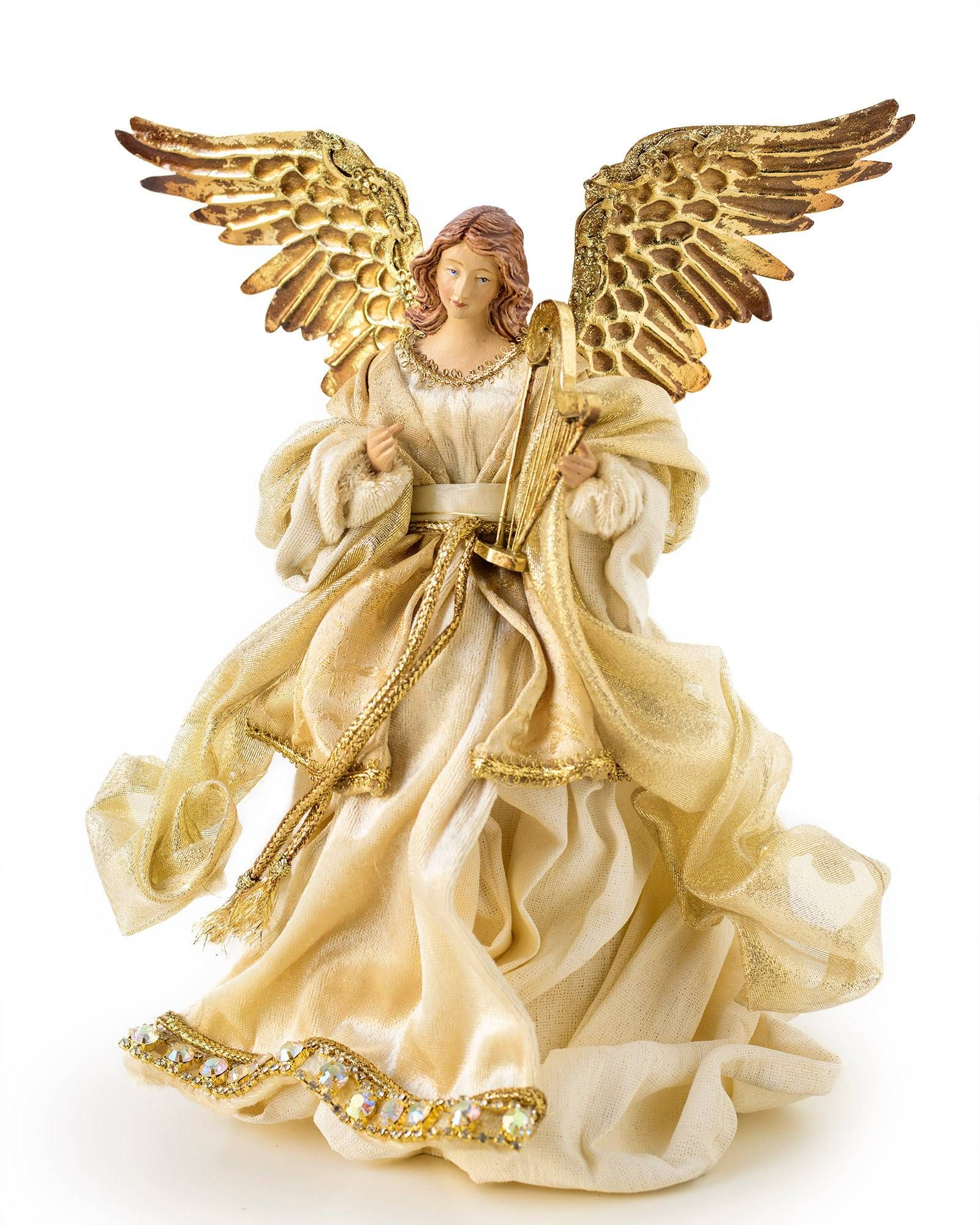 Small Gold Angel Tree Topper Anjos De