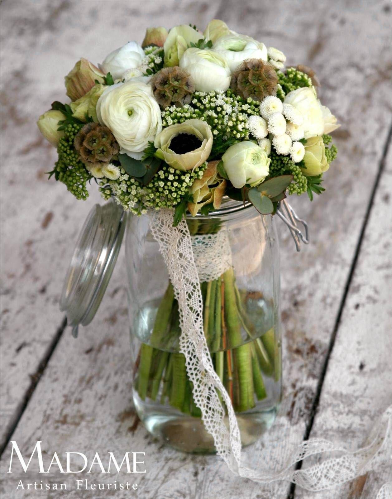 bocal dentelle et fleurs simples bouquet. Black Bedroom Furniture Sets. Home Design Ideas