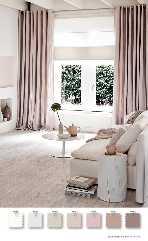 Torie Jayne Powder Pink Interiors Gardinen Modern Gardinen