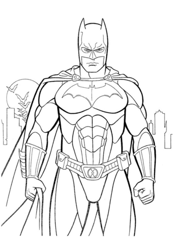 Batman Dibujo para colorear | Superheroe | Batman dibujo, Batman