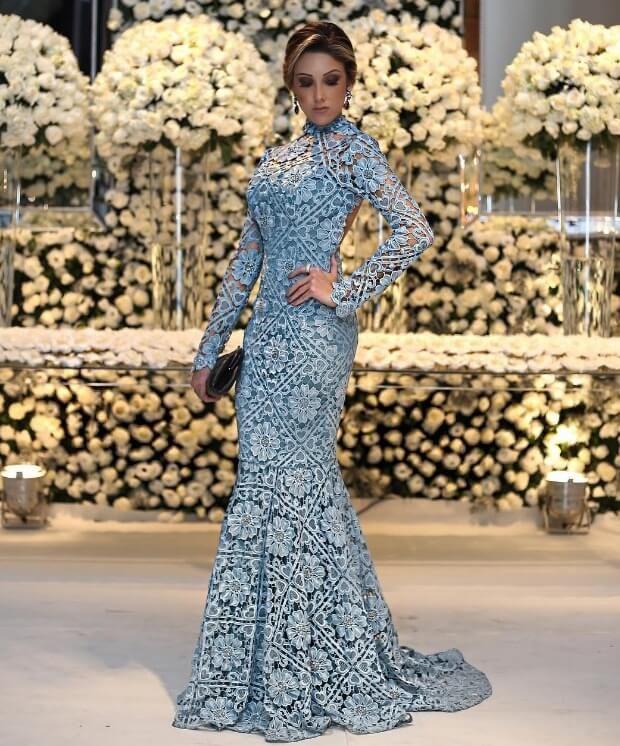 Vestido longo azul 2018