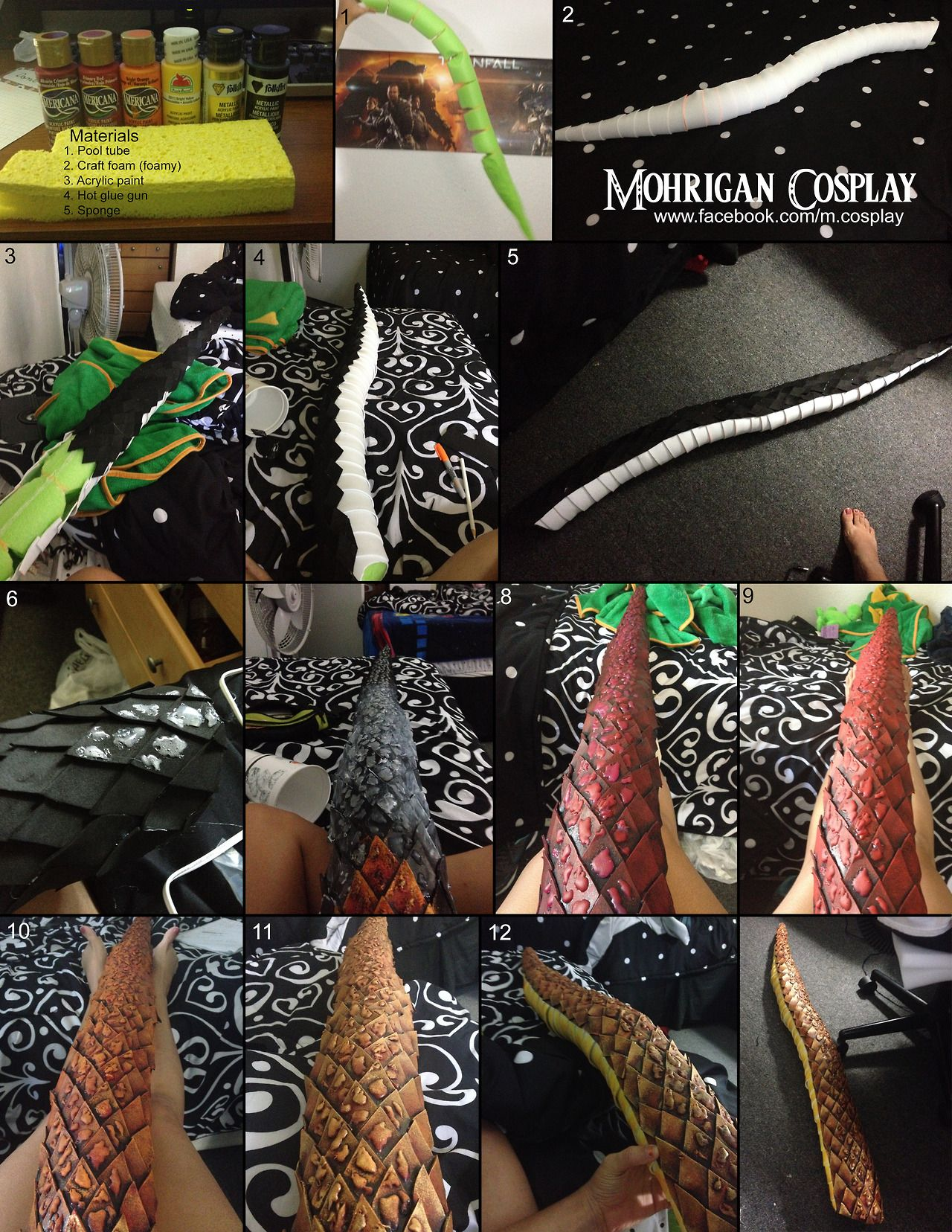 Mohrigan Cosplay Tutorials — How To Make A Dragon Tail *click To Zoom In*