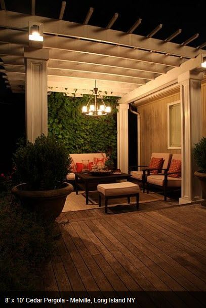Pergola lighting can be a permanent outdoor chandelier. - Pergola Lighting Can Be A Permanent Outdoor Chandelier. Lighting