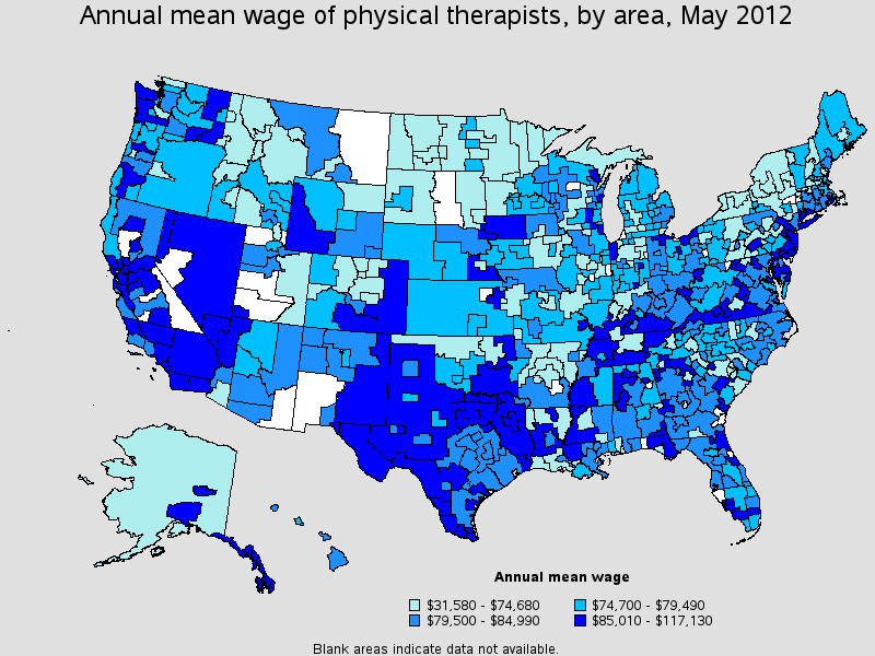Occupational Employment Statistics for Physical Therapist