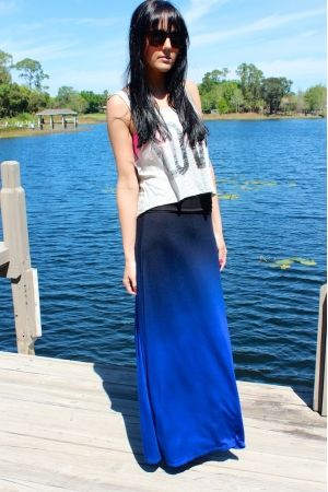 Ombre Skies Maxi Skirt