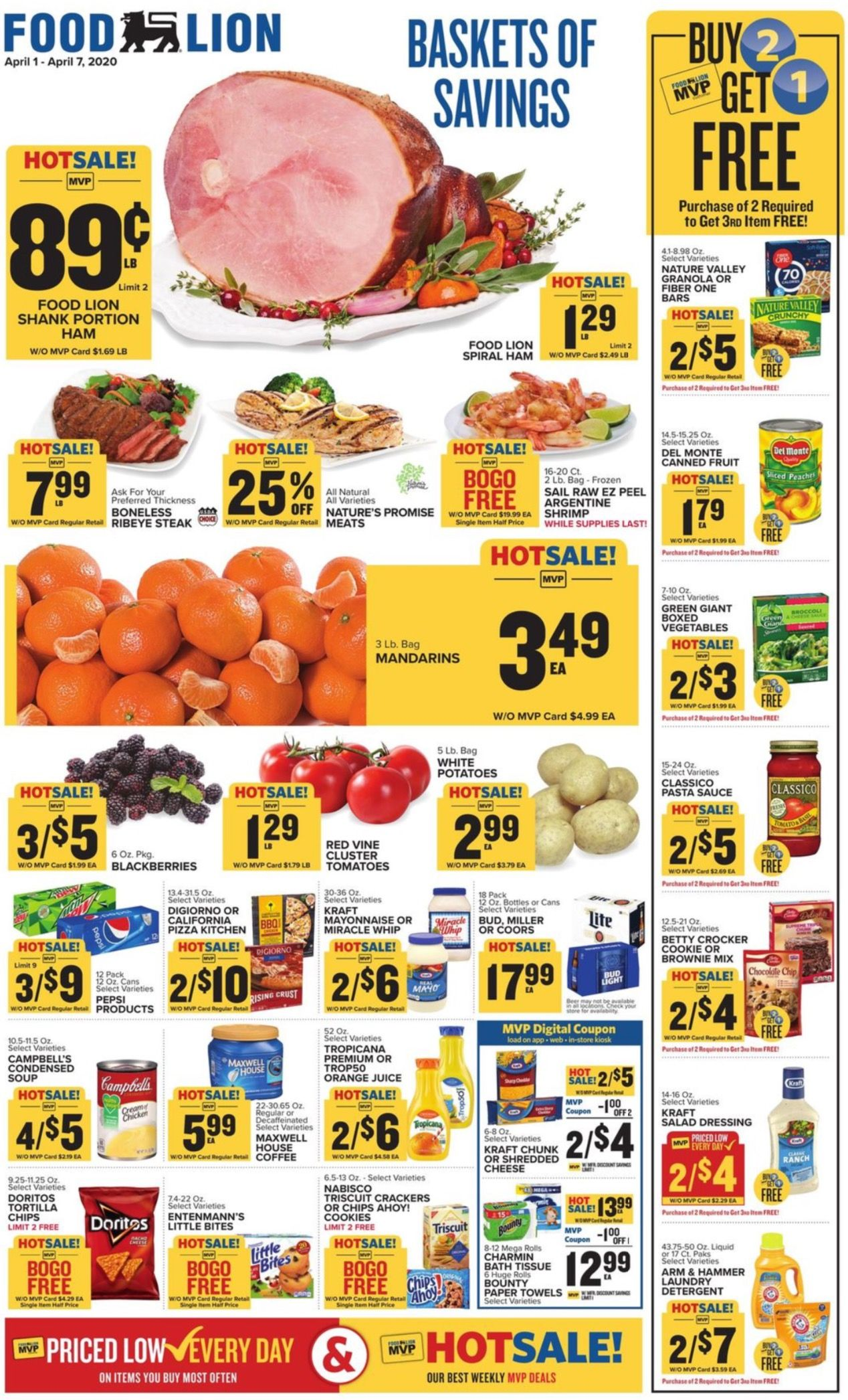 Food lion weekly 4120 4720 ad preview in 2020