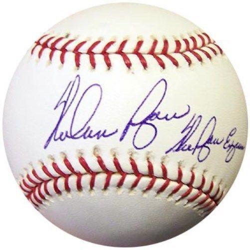 Nolan Ryan Autographed Official Mlb Baseball Texas Rangers Ryan Express Graded 10 Psa Dna Stock 6613 Nolan Ryan Mlb Baseball Baseball