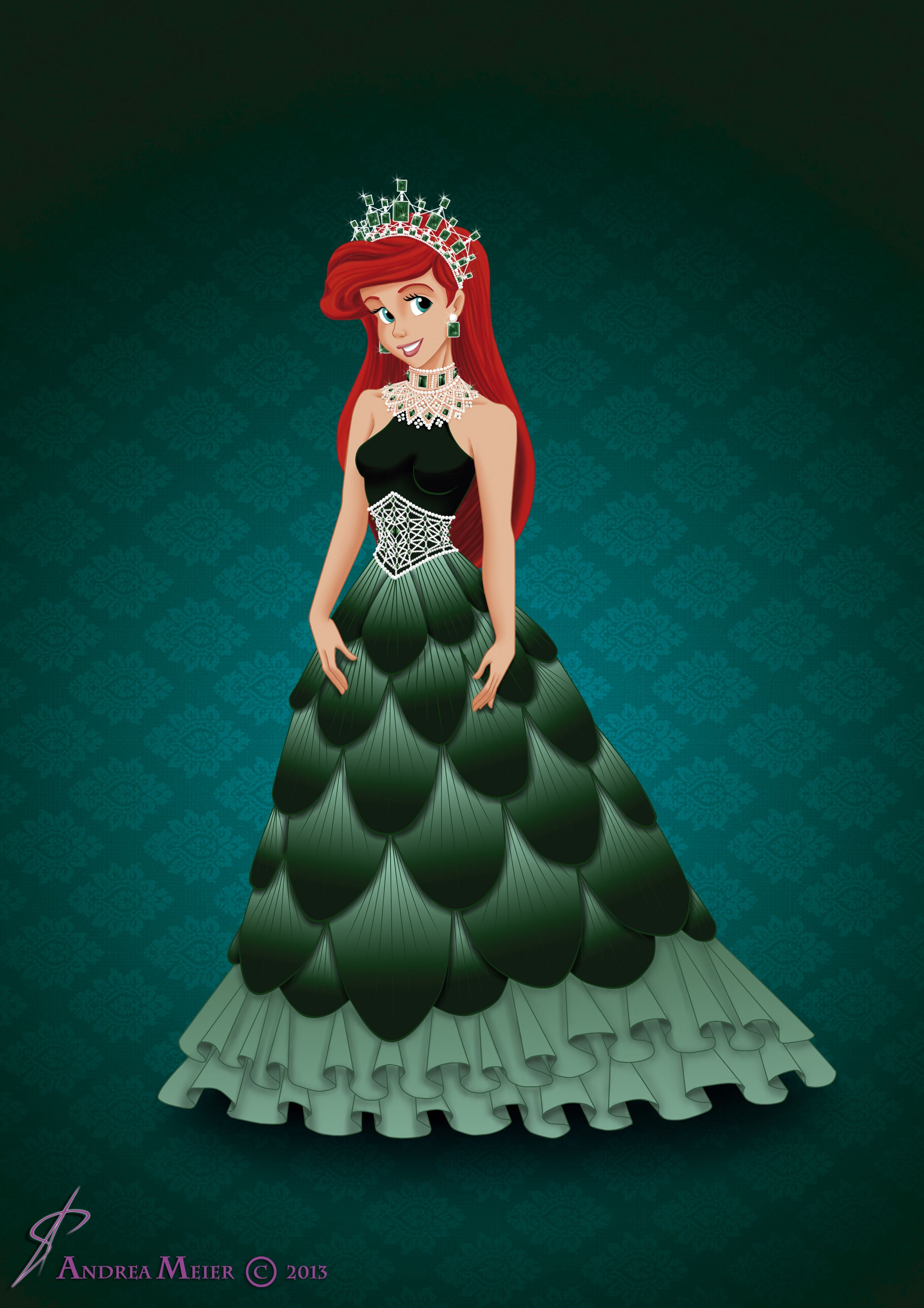 The dress ariel wore - Find This Pin And More On The Little Mermaid Royal Jewels Dress Edition Ariel