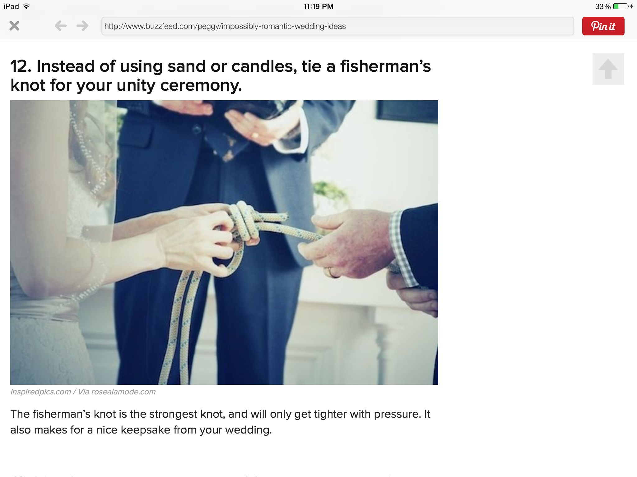 Tie a Fisherman's knot during the ceremony. It is the strongest knot & it only gets stronger with pressure. Makes a nice wedding keepsake too