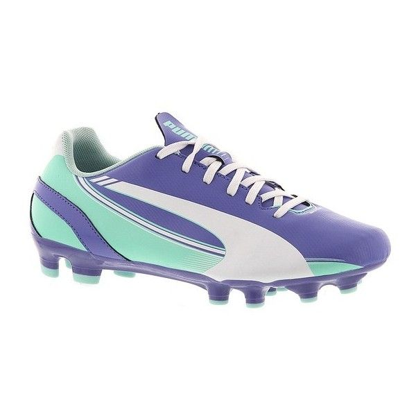 PUMA evoSPEED 5.3 FG (€30) ❤ liked on Polyvore featuring shoes, blue, light weight running shoes, lacy shoes, lightweight running shoes, women shoes and lightweight shoes