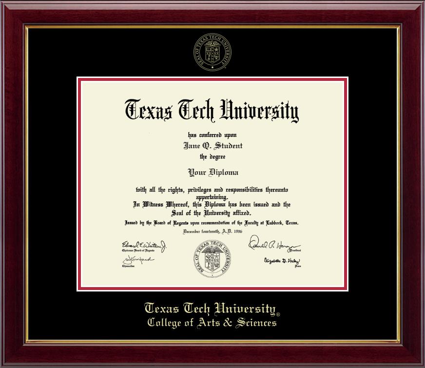 Texas Tech University Diploma Frame | University diploma and High gloss