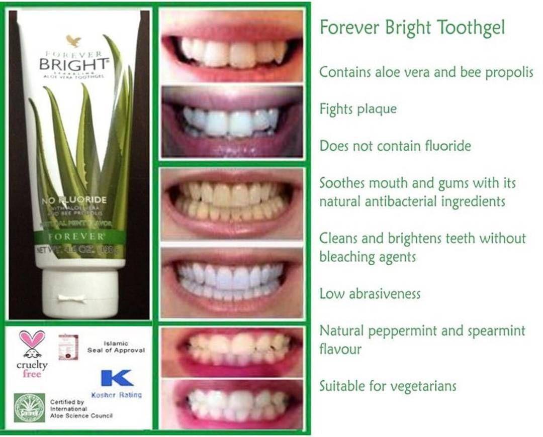 من أفضل أنواع جيل الأسنان المتاحة للبيع حاليا يحتوي 100 من جيل الألوفيرا المثبت مع العكبر أو دنج الن Tooth Gel Forever Bright Toothgel Forever Living Products
