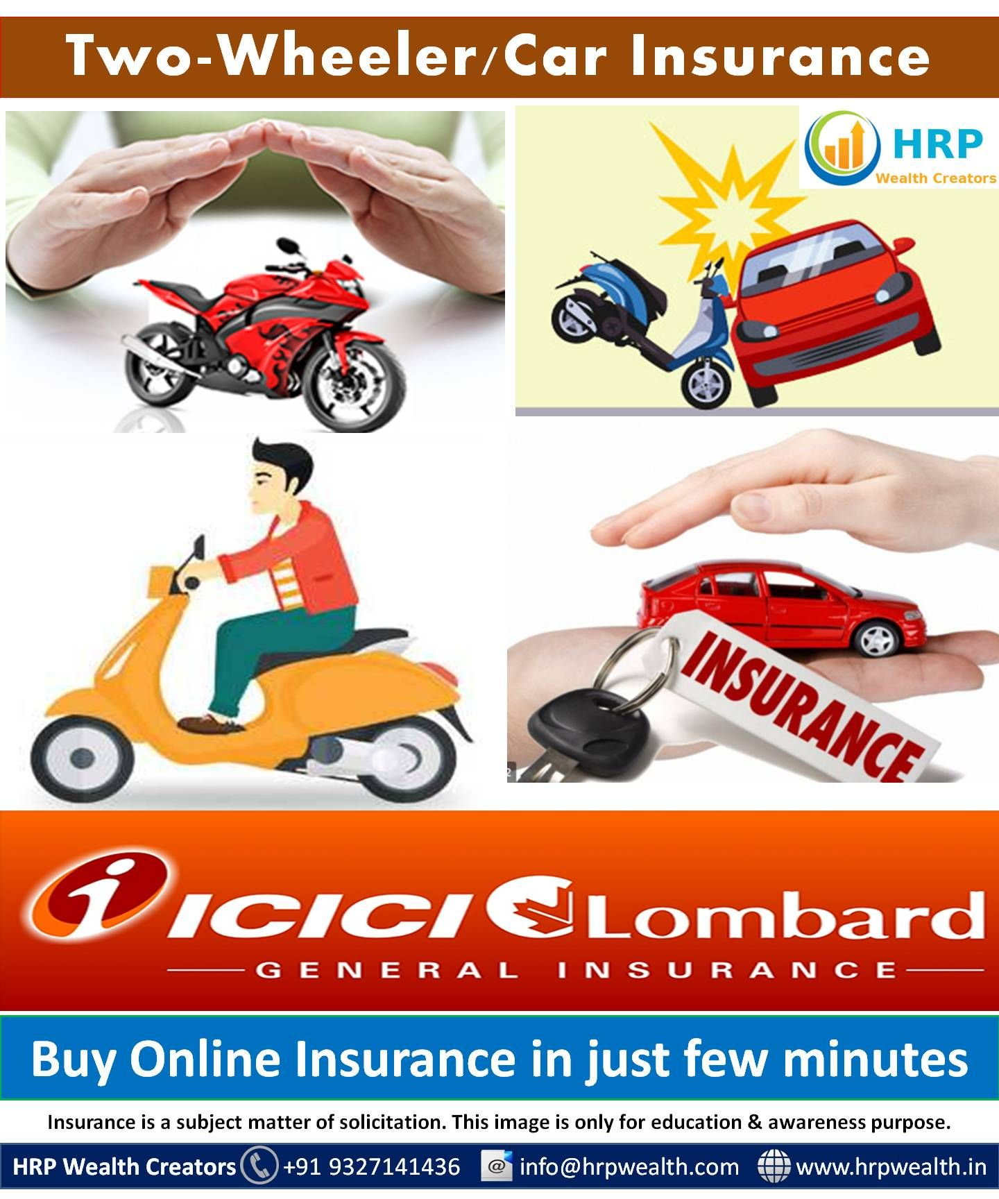 Icici Lombard Insurance Two Wheeler Car Insurance Click On