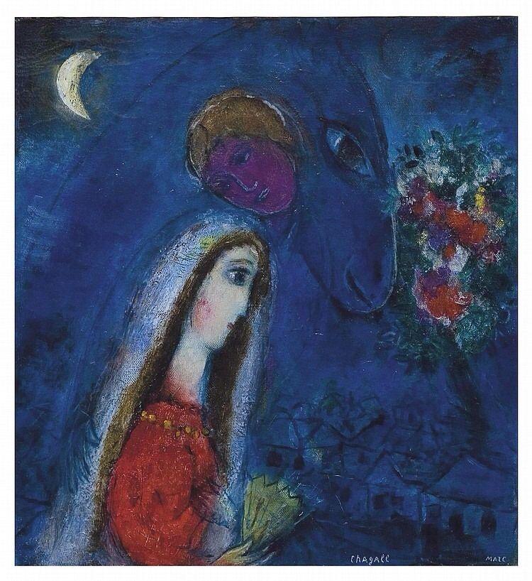 Marc Chagall, La Fiancée revantê, 1952