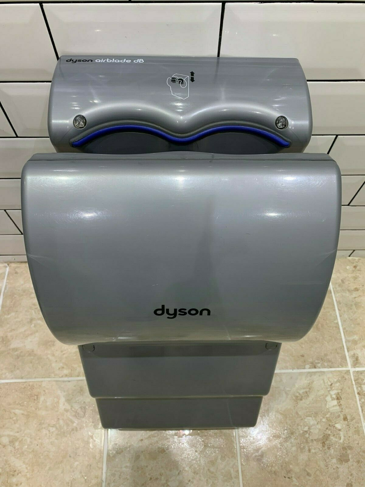 Dyson Airblade DB AB14 Hand Dryer (grey) with blue trim