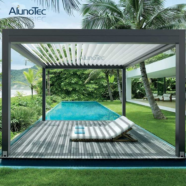 Outdoor Waterproof Aluminum Pergola In Customized Size With