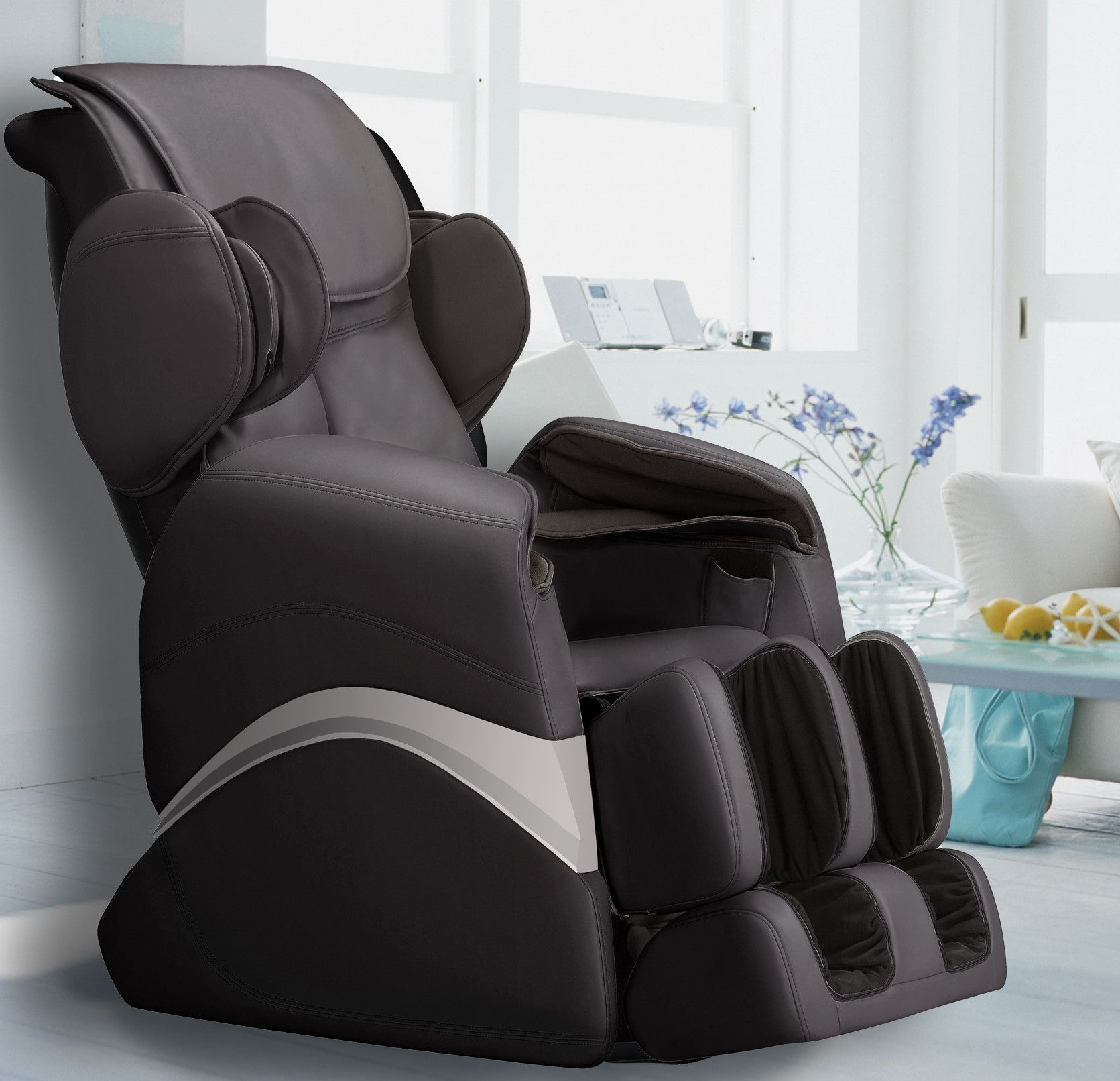Faux Leather Zero Gravity Massage Chair with Ottoman