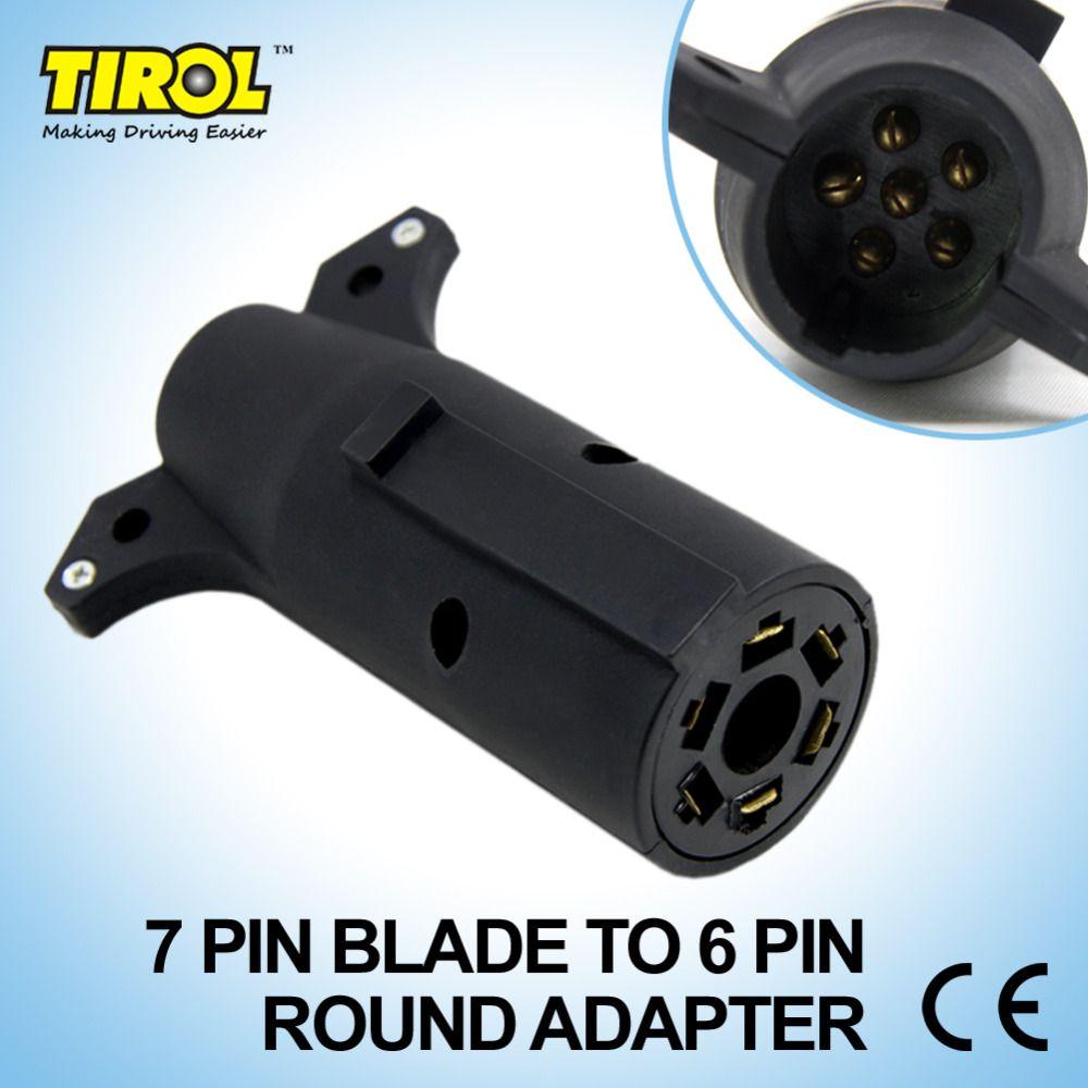 Tirol 7 Pin Blade TO 6 PIN Round Trailer Adapter Trailer Light ...