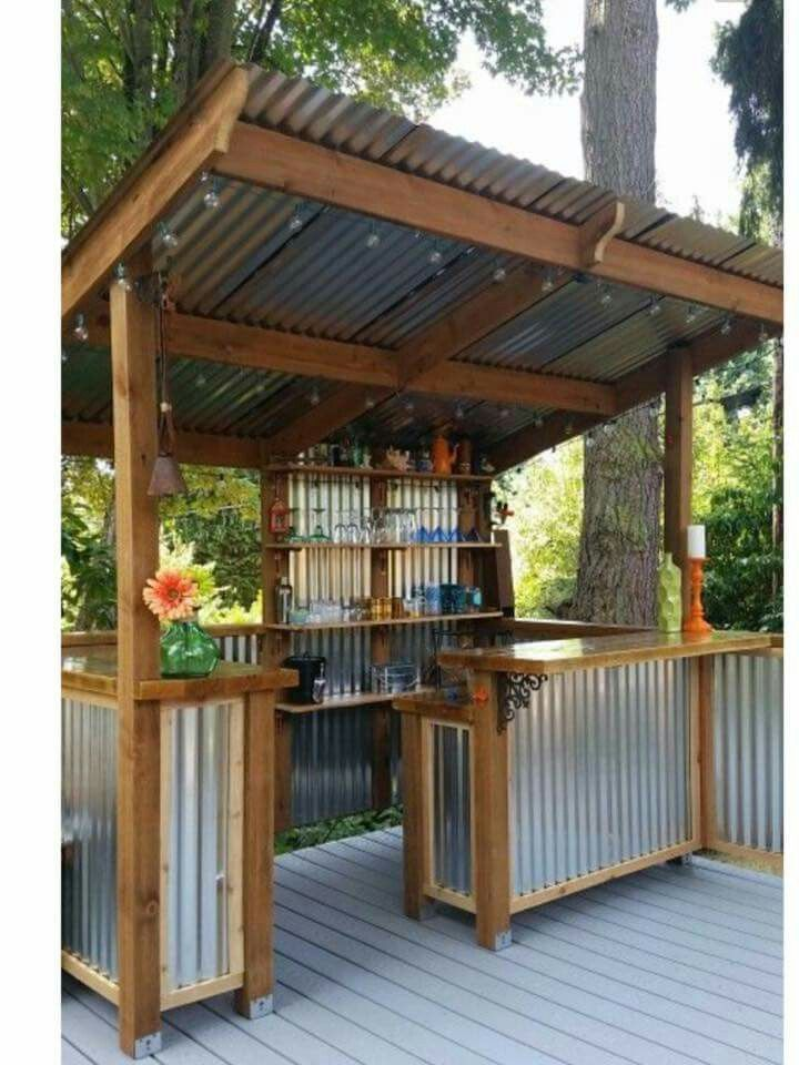 Outdoor Bar This Wouldn T Be Too Hard To Re Create