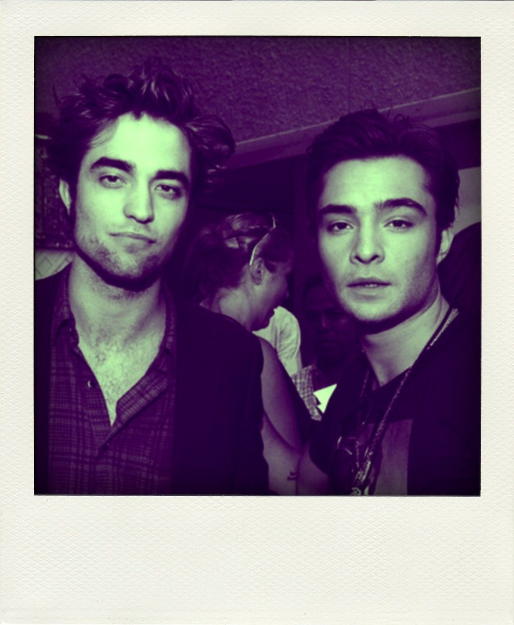Robert Pattinson and Ed Westwick