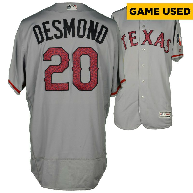 reputable site e0b9a 8a093 Ian Desmond Texas Rangers Fanatics Authentic Game-Used ...