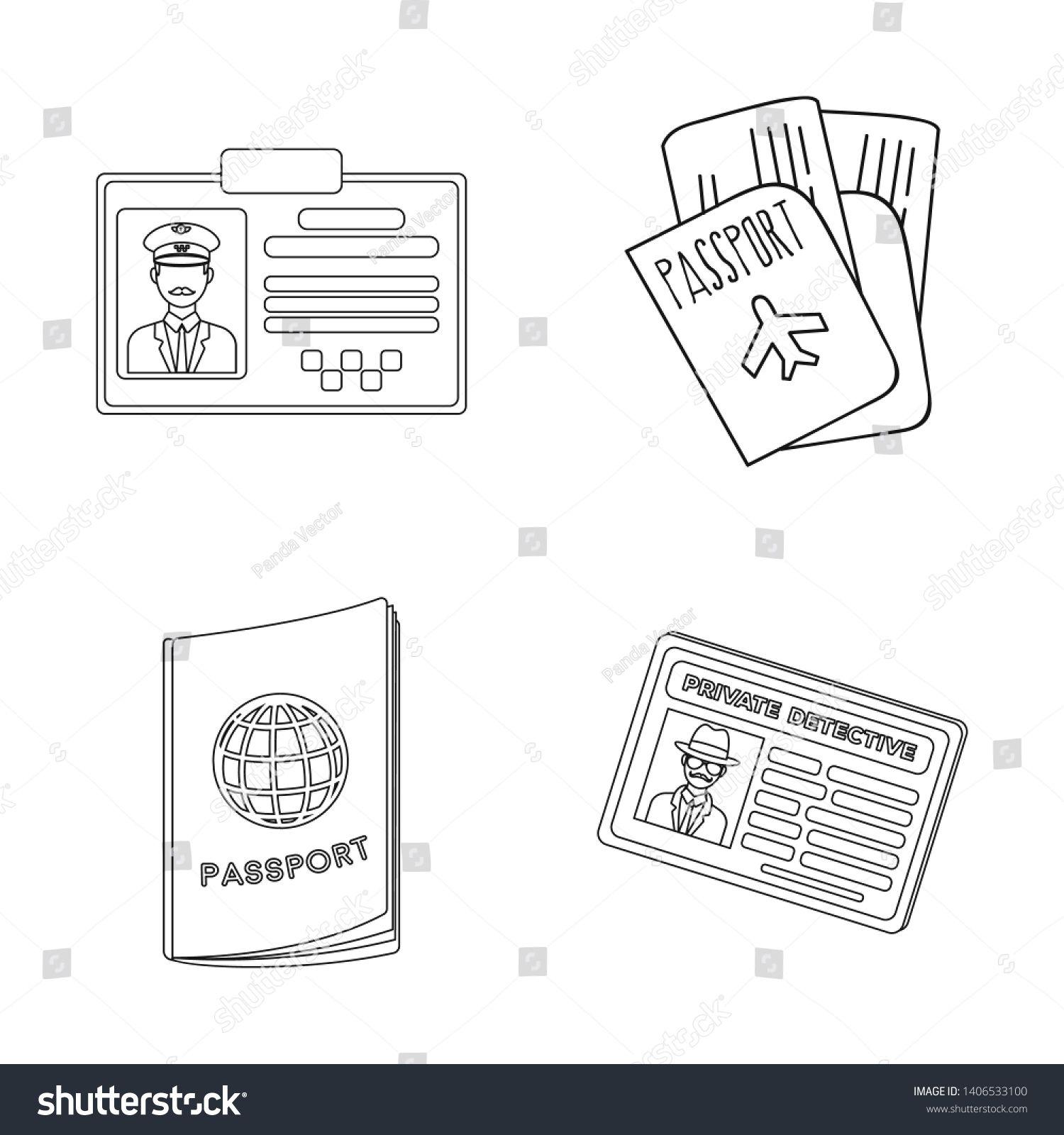 25+ Passport Clipart Black And White