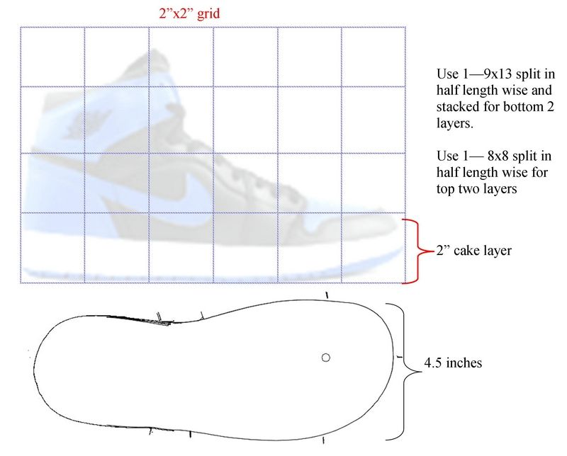 Jordan Shoe Cake Template  D High Top Sneaker  Templates