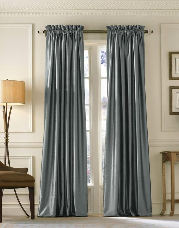 Living A Beautiful Life Empress Luxe Silk Solid Wide Width Lined Drapery Plus Molding Wall Treatment