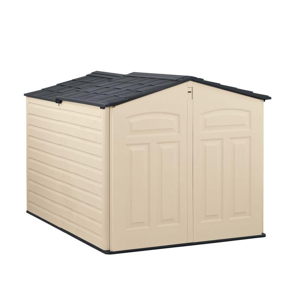 Rubbermaid 6 Ft 6 In X 5 Ft Slide Lid Resin Shed 1800005 With Images Rubbermaid Outdoor Storage