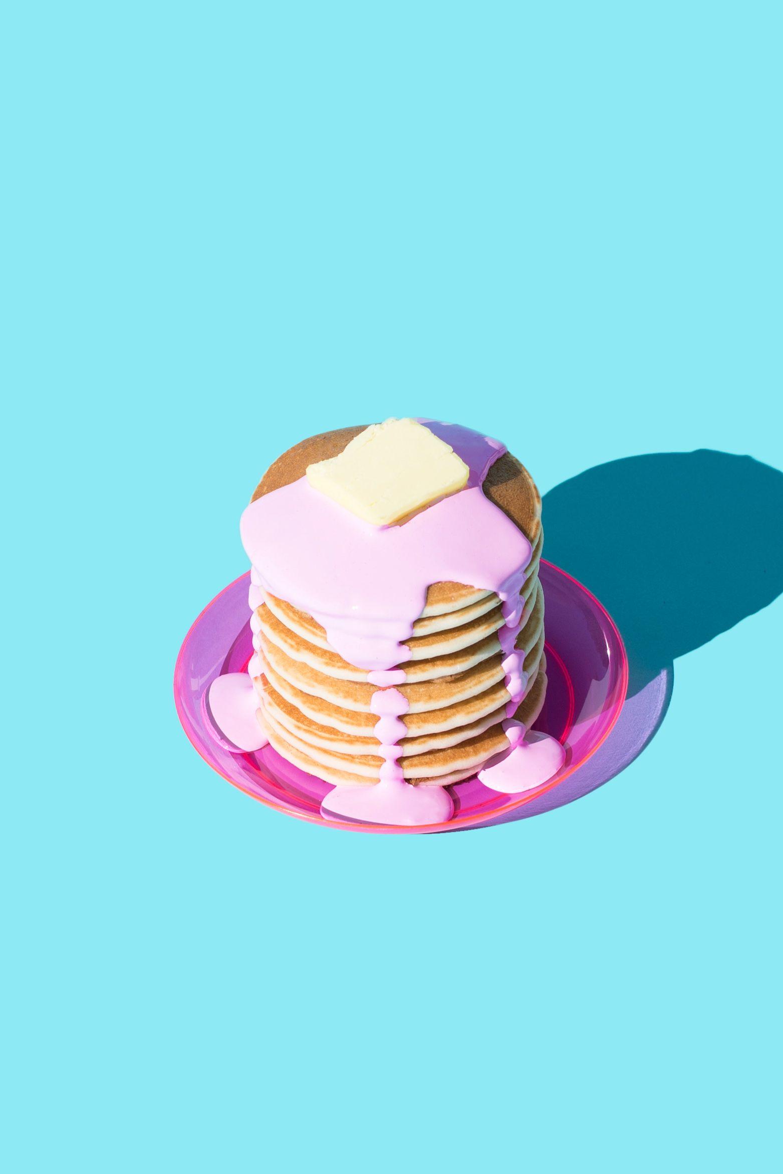 Colorful Food Wallpaper Free Download: Pancakes In Pink / Violet Tinder Studios