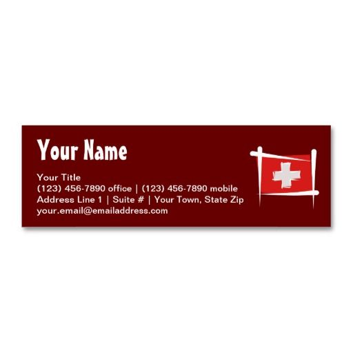 Switzerland brush flag business card travel business card switzerland brush flag business card colourmoves Image collections