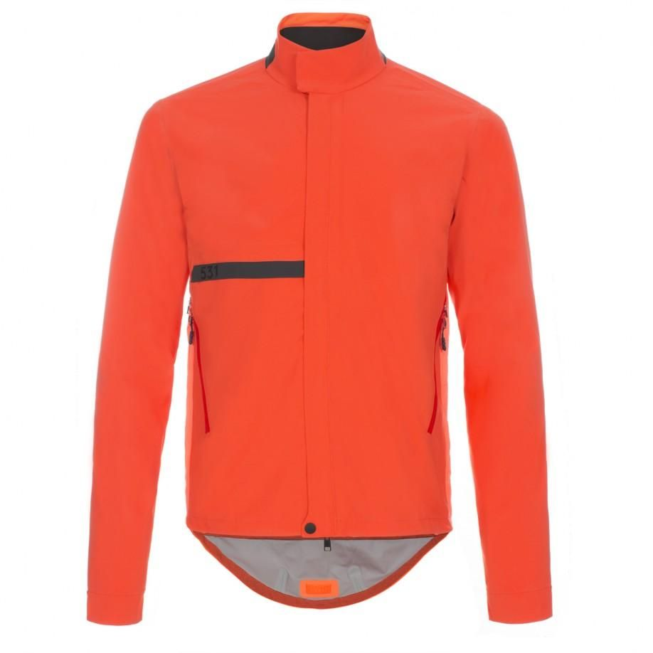 Paul Smith Men's Jackets - Orange Weatherporoof Cycle Jacket With  Temperature Control