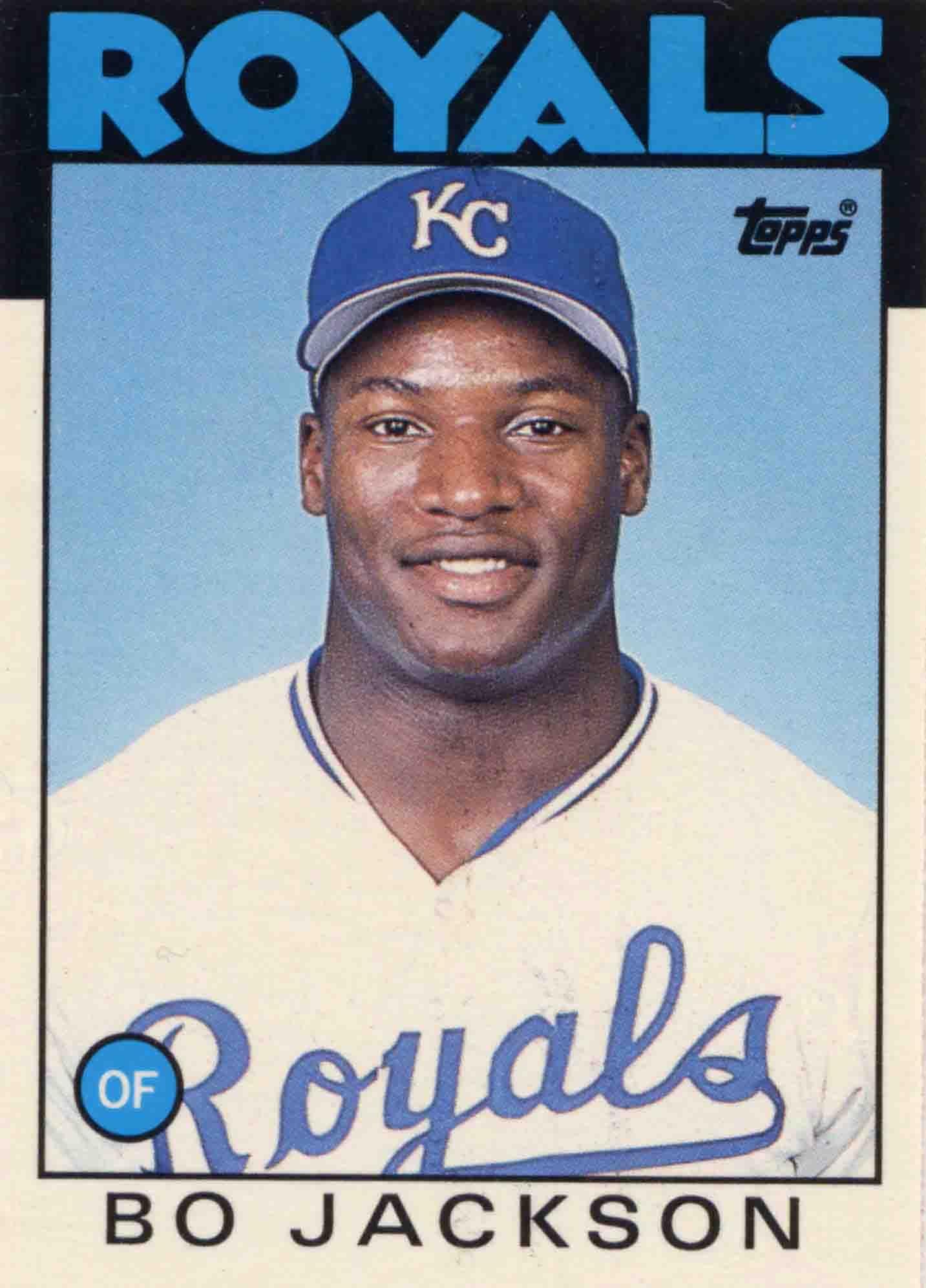 1986 toppstraded bo jackson baseball cards baseball