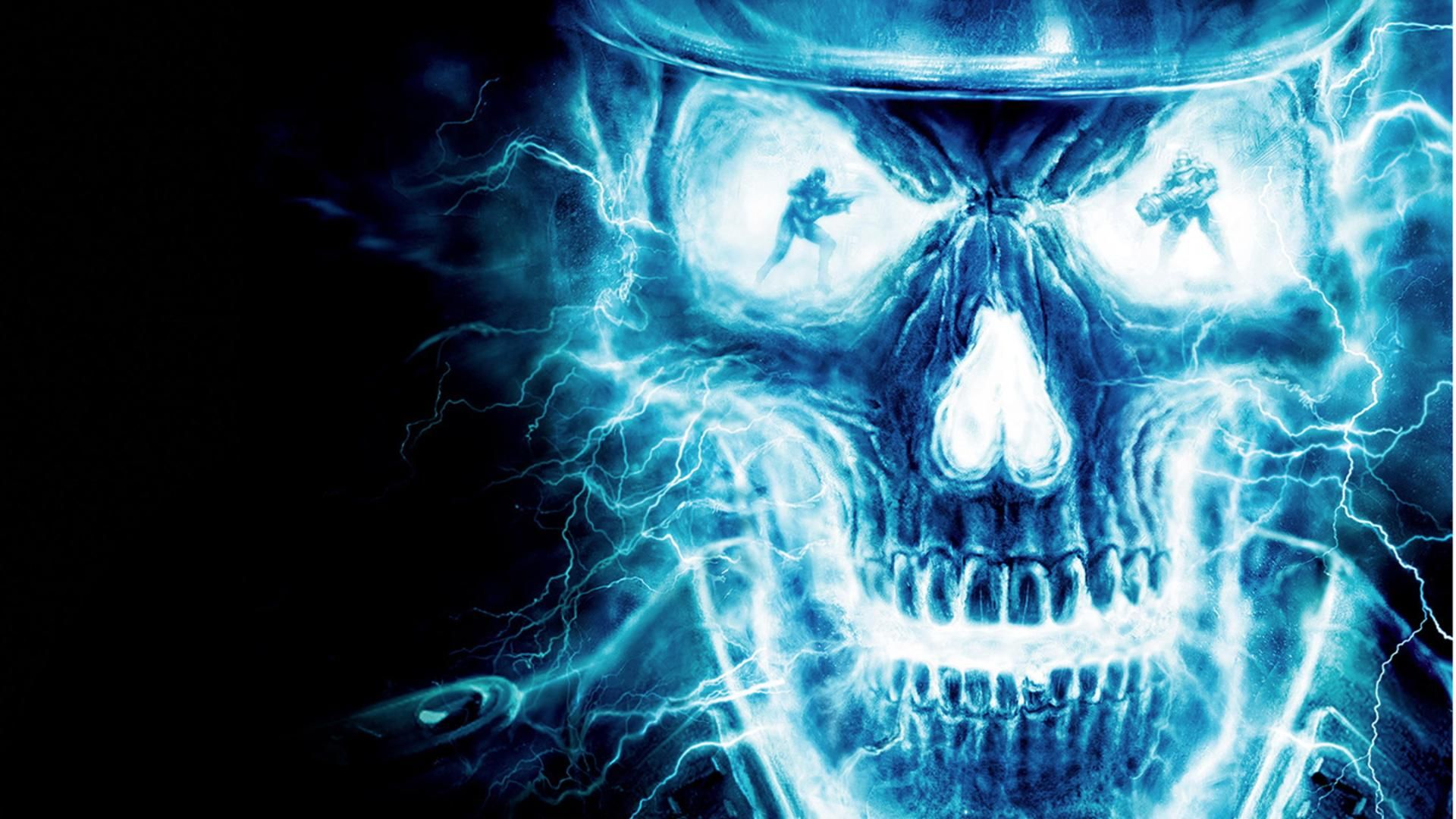 Blue Skull Wallpapers Wallpaper